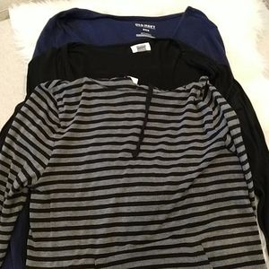 3 Old Navy Long Sleeve shirts. BOGO on everything